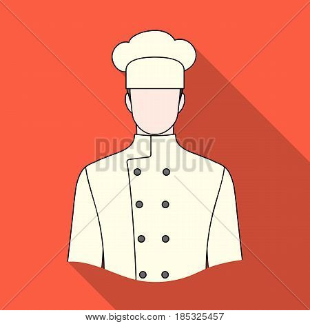Chef.Professions single icon in flat style vector symbol stock illustration .