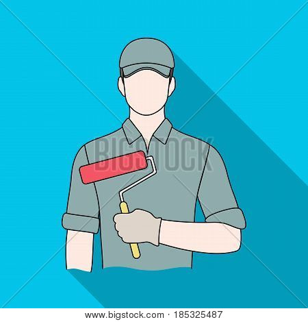 Painter.Professions single icon in flat style vector symbol stock illustration .