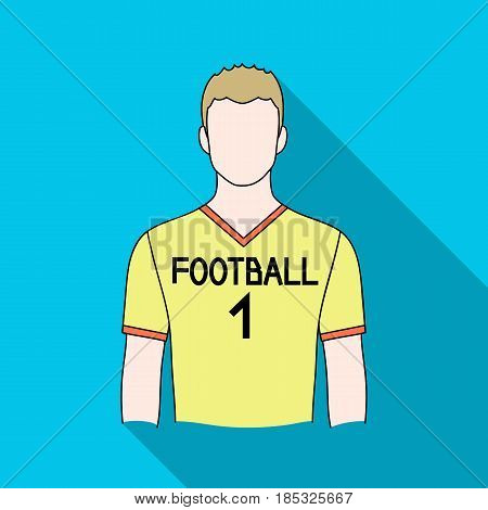 Footballer.Professions single icon in flat style vector symbol stock illustration .
