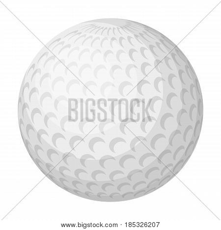 Golf ball.Golf club single icon in monochrome style vector symbol stock illustration .