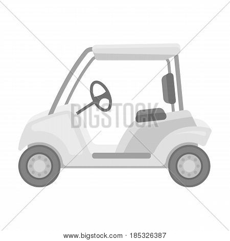 Car for golf.Golf club single icon in monochrome style vector symbol stock illustration .