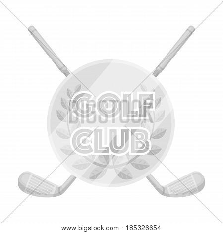 Emblem of the golf club.Golf club single icon in monochrome style vector symbol stock illustration .