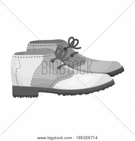 Golfer shoes.Golf club single icon in monochrome style vector symbol stock illustration .