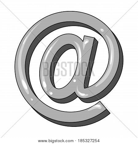 Email symbol.Mail and postman single icon in monochrome style vector symbol stock illustration .