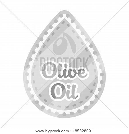 Label of olive oil.Olives single icon in monochrome style vector symbol stock illustration .
