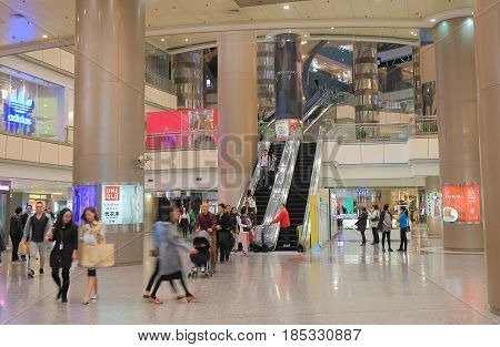 SHANGHAI CHINA - NOVEMBER 2, 2016: Unidentified people visit Super Brand Mall. Super Brand Mall is one of the most prestigious shopping malls in East China.