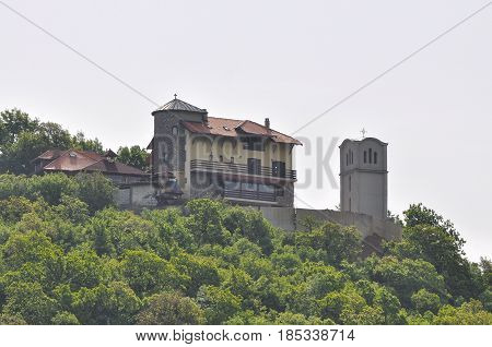 Church of assumption on the hill in Ovcar and Kablar gorge. Monastery of st assumption