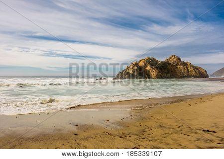 Rock at Pfeiffer Beach, Big Sur, California, USA