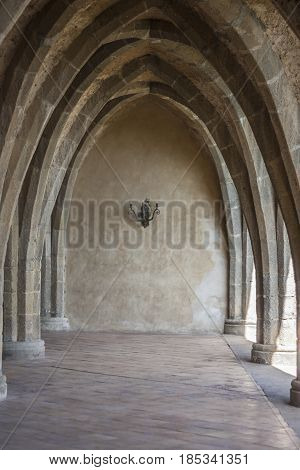 The Cloister of Villa Cimbrone in Ravello Italy to understand a concept of architecture and tourism
