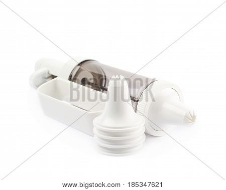 Cream piping syringe tool isolated over the white background