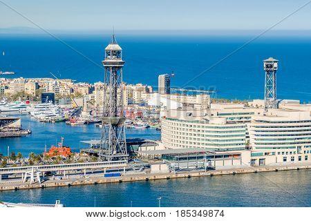 Port Vell overlook, Barcelona, Catalonia, Spain