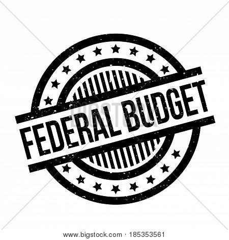 Federal Budget rubber stamp. Grunge design with dust scratches. Effects can be easily removed for a clean, crisp look. Color is easily changed.