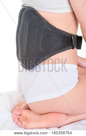 woman doing massage with Body Wrap Electric Beauty Care Slimming Belt