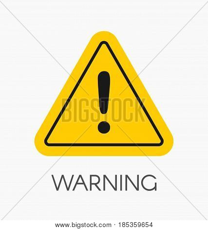 Warning Icon / Sign In Flat Style Isolated. Caution Symbol For Your Web Site, Logo, App, Ui Design.