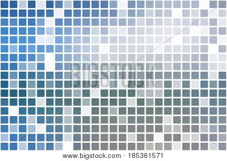 White Blue Shades Occasional Opacity Mosaic Over White