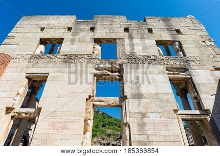 Ancient ruins in Ephesus Turkey, Ephesus contains the ancient largest collection of Roman ruins in the eastern,Turkey