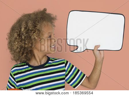 Little Caucasian Boy Smiling Chat box