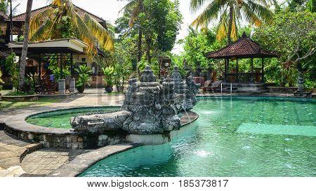 Swimming Pool At Resort In Bali, Indonesia