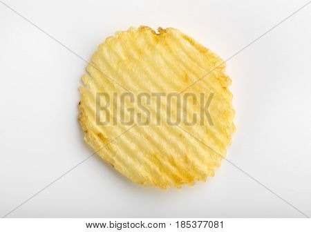 Crispy Potato Chips. Fast Food. Potatoes. Fatty Unhealthy Foods. Corrugated Chips