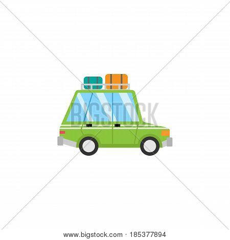 Travel Car flat icon, travel tourism, transport, a colorful solid pattern on a white background, eps 10.