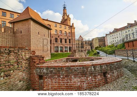 Poznan, Poland - April 30, 2017: View Of The Old City Walls On 3