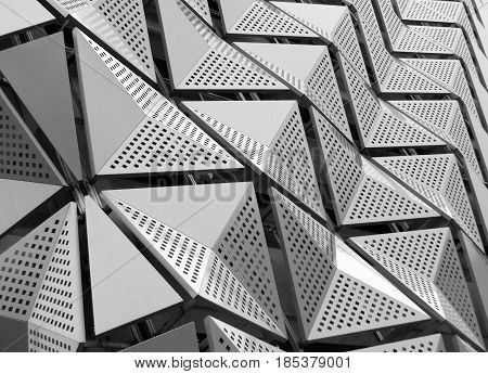 metal geometric cladding on a generic modern building