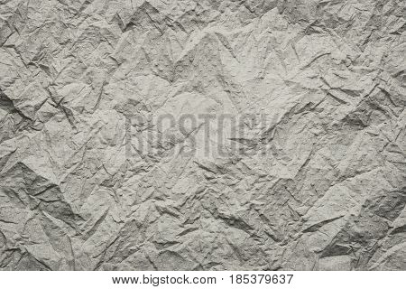 Brown Tissue surface of wrinkled or Crumpled for the design Texture background.