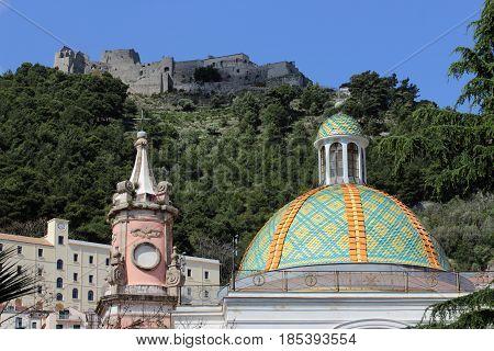 Santissima Annunziata baroque church in Salerno Italy