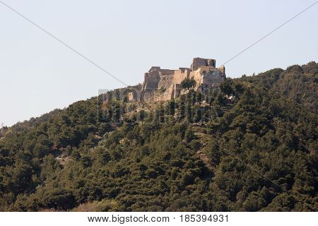 Arechi Castle famous landmark positioned 263m above the city of Salerno Italy
