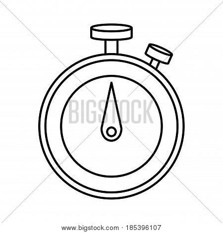 sportwatch chronometer sport tool time line vector illustration