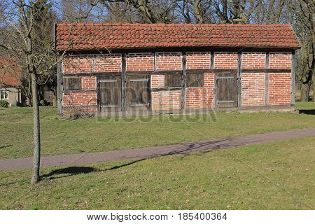 Former Pheasant Barn On Palace Grounds In Griebenow, Mecklenburg-vorpommern, Germany
