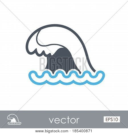 Ocean wave outline vector icon. Beach. Summer. Summertime. Holiday. Vacation eps 10