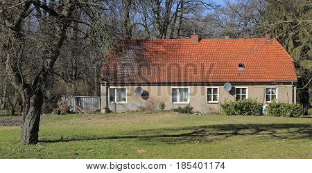 Former Turkey Barn On Palace Grounds In Griebenow, Mecklenburg-vorpommern, Germany
