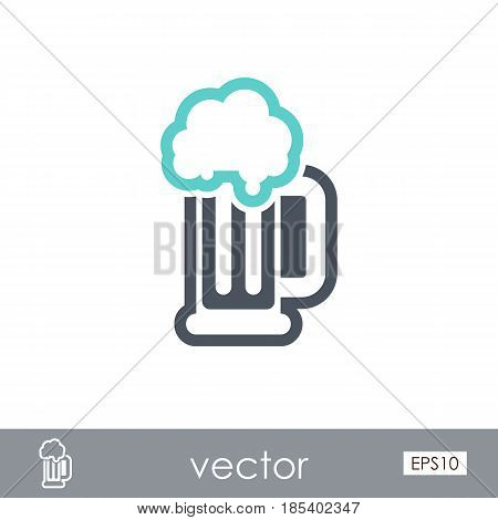 Beer Mug outline vector icon. Beach. Summer. Summertime. Holiday. Vacation eps 10