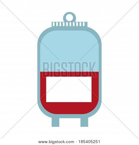 plastic bag blood donation transfusion vector illustration