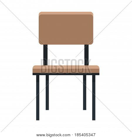 chair furniture seat comfortable image vector illustration