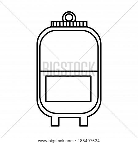 plastic bag blood donation transfusion line vector illustration