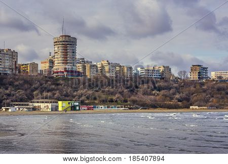 Residential district of Constanta city on the shore of the Black Sea Romania.