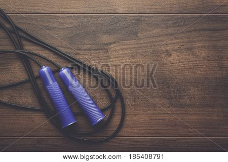 skipping rope for an exercise on the table