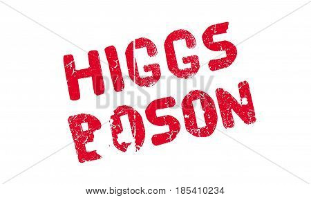 Higgs Boson rubber stamp. Grunge design with dust scratches. Effects can be easily removed for a clean, crisp look. Color is easily changed.