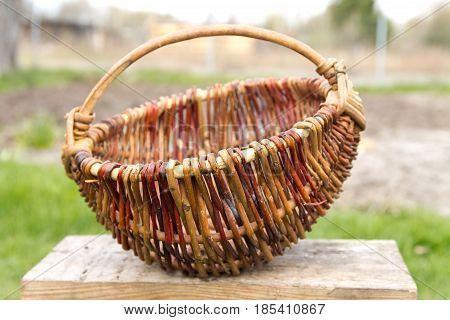 Old  wicker  basket  f rom  a  rod .