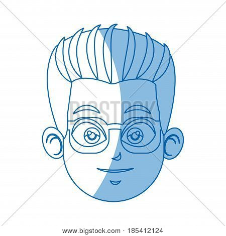 head face doctor wearing glasses image vector illustration