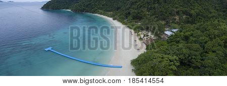 aerial view of Nyaung Oo Phee island andaman sea myanmar most popular natural traveling destination
