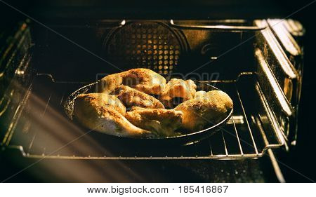 Chicken Chunks Are Fried In A Pan