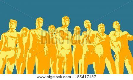 International Business Technology Industry Sector as Art 3D Illustration Render