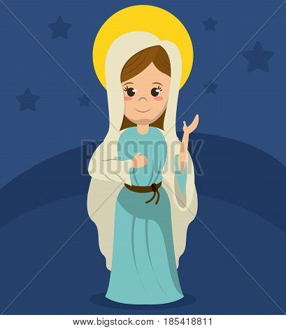 virgin mary catholicism spirit image vector illustration poster