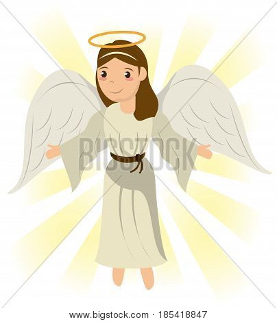 angel sacred holy miracle symbol image vector illustration