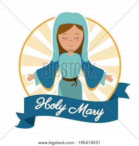holy mary mother miracle salvation image vector illustration