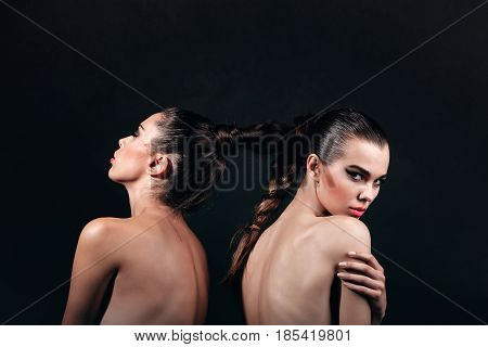 Naked Lesbian Models With Braided Hair