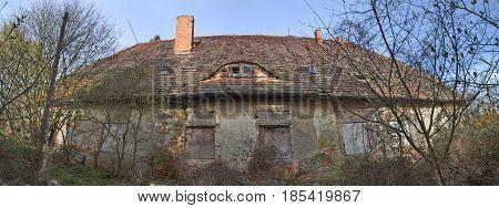 Ruined Farm House In Klein Schoenwalde Near Greifswald, Germany